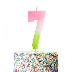 큼직한 솜사탕 숫자초-7 (1개)