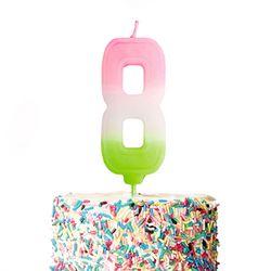큼직한 솜사탕 숫자초-8 (1개)