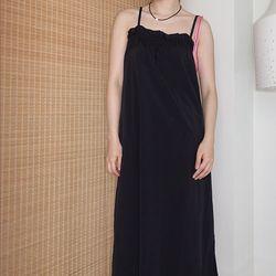 [dress] 셔링 슬리브리스 드레스