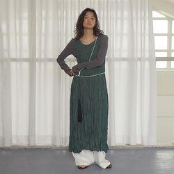 [dress] 링클 슬리브리스 드레스