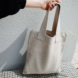 Linen Tote Bag (NATURAL)