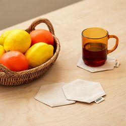 블랭크 광목원단 티코스터 . 컵받침(RM 221001)