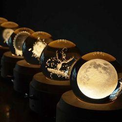 감성 오르골무드등 달 은하수 어린왕자 크리스탈 오르골