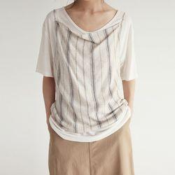 basic stirpe linen sleevless (2colors)