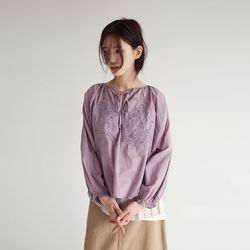punching oriantal mood blouse (3colors)