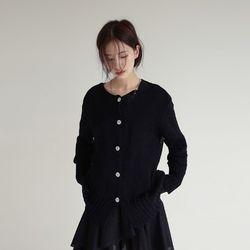 net loose fit cardigan (black)