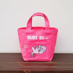 패브릭 산책가방 핑크