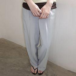 [pants] 투버튼 핀턱 팬츠