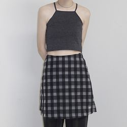 [skirt] 에이라인 체크 스커트