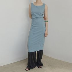 [dress] 사이드 셔링 드레스