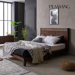 플라망 프린츠 마호가니 원목 침대+프리미엄 라텍스매트 Q