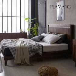 플라망 프린츠 마호가니 원목 침대+디럭스 라텍스매트 Q