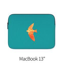 날개 푸른 (노트북 13인치 파우치)