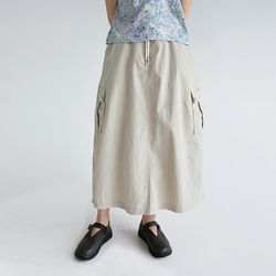 cargo pocket detail skirts (beige)