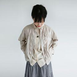 kitch mood linen blouse (beige)