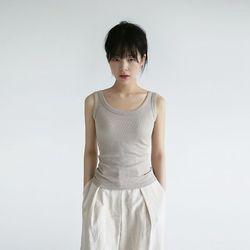 slim fit cotton golgi sleevless (5colors)