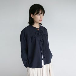 kitch mood linen blouse (navy)