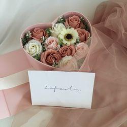 pink mix 하트 비누꽃박스 어버이날선물 성년의날 로즈데이선물