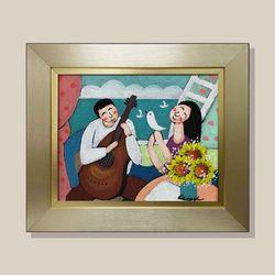 연인콘서트 유화그림 그림액자 복들어오는그림 3호