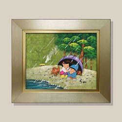 소나기남매 유화그림 그림액자 복들어오는그림 3호