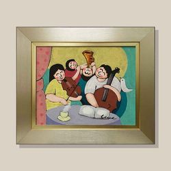 가족음악회 유화그림 그림액자 복들어오는그림 3호