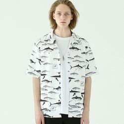 마린피쉬 오픈카라 셔츠-화이트
