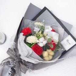 모던비누카라카네이션꽃다발 58cmCP 조화 FMBBFT