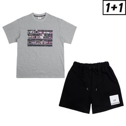 [1+1] BOTTLE SHORT SLEEVE + OFF LICENCE BANDING SHORT PANTS