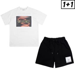 [1+1] OFF LICENCE SHORT SLEEVE + OFF LICENCE BANDING SHORT PANTS