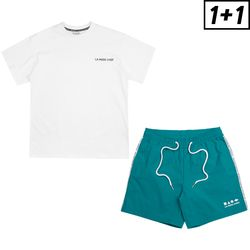 [1+1] SHAPE SHORT PANTS + LUMINOUS SHORT SLEEVE