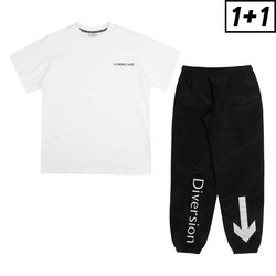 [1+1] SIGN JOGGER PANTS + LUMINOUS SHORT SLEEVE