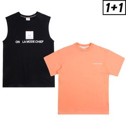 [1+1] OFF LICENCE SLEEVELESS + LUMINOUS SHORT SLEEVE