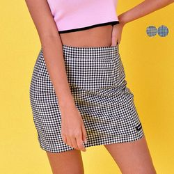 GINGHAM CHECK MINI SKIRT(2color)