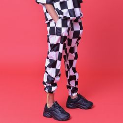 CHECKERBOARD TRACK PANTS(unisex)
