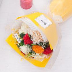 오렌지비누카네이션꽃다발 45cmCP 조화 FMBBFT