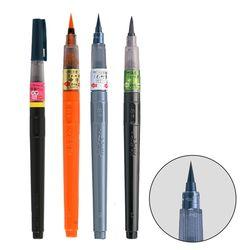 ZIG 지그 쿠레타케 회색흑색주액청색 붓펜