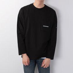 포켓 오버핏 긴팔 티셔츠 GLT-946