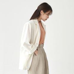 soap boxy linen jacket