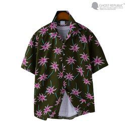 팜 프린팅 오버핏 하와이안 셔츠 MSH-5S22