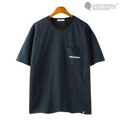 사선포켓 스트라이프 반팔 티셔츠 GT-3160