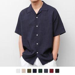 오픈 카라 오버핏 12 셔츠(8Color)