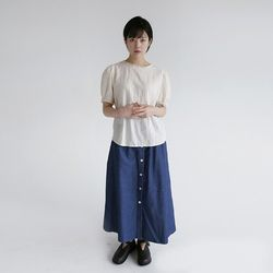 all button denim skirts (2colors)
