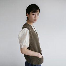 vintage mood knit vest (2colors)