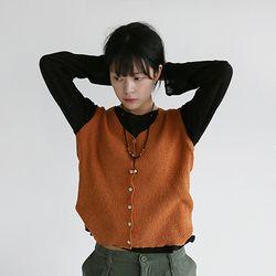 cozy mood knit vest (5colors)