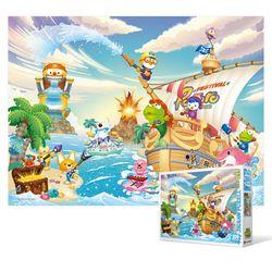 100피스 직소퍼즐 - 뽀로로 해적섬의 여름 (큰조각)