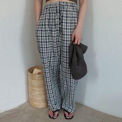 [pants] 체크 밴딩 팬츠
