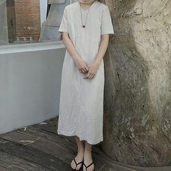 [dress] 린넨 슬릿 드레스