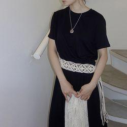 [dress] 스트링 롱 드레스