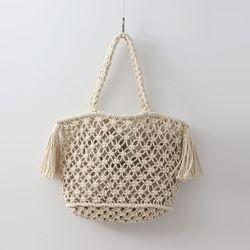 Knitting Tassel Handle Bag