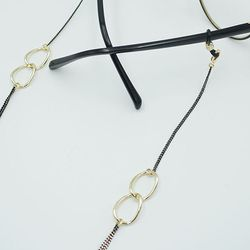 Neon gold link glasses chain